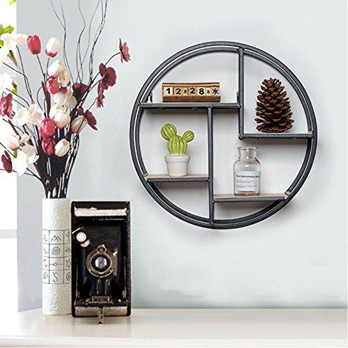 Circle Bracket Shelf - Ruier-hui TV Wall Hanging Storage Shelf Rack - Hanging Shelves DIY Room Decoration (Circle)