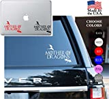"Game Of Thrones House Of Targarven Mother Of Dragons Stark Winter Is Coming Series HBO Vinyl Decal Sticker - Car Window, Laptop Skin, Wall, Mac (6.5"" inches, Red)"