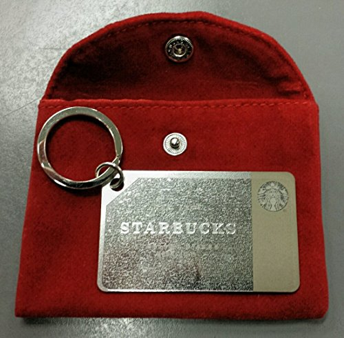 Starbucks Coffee 2014 Holiday Sterling .925 Silver Mini Gift Card Keychain by Starbucks