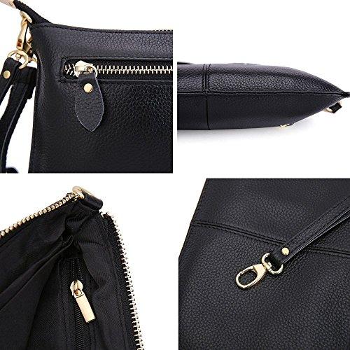 de Bolso Albaricoque Bolsa Para hombro de mano Moda de mujeres embrague billeteras bolso PU de la Pequeño Diferente las Bolsa Crossbody Manilla Cuero z6xBnHqXz