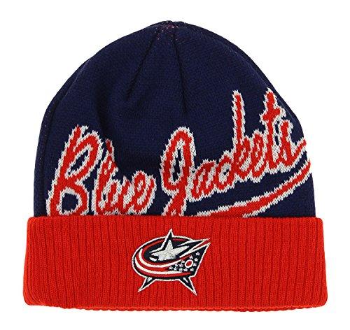 NHL Columbus Blue Jackets Boys 8-20 Basic Cuffed Knit Hat, One Size, Navy