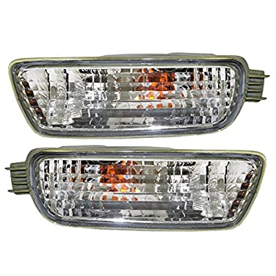 Signal Front Marker Lights Lamps Driver and Passenger Replacements for 01-04 Toyota Tacoma Pickup Truck 8152004080 8151004080: Automotive