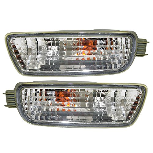 Driver and Passenger Signal Front Marker Lights Lamps Replacement for Toyota Pickup Truck 8152004080 8151004080 (Driver Front Turn Signal Light)