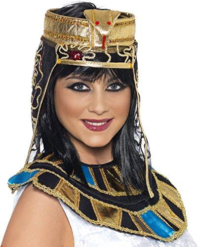 Smiffy's Women's Egyption Headpiece, Black/Gold, One (Egyption Costumes)