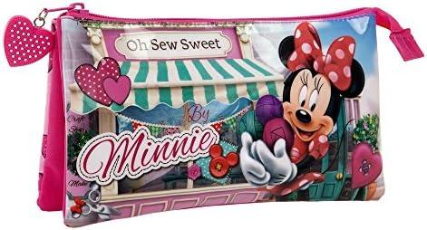Disney Minnie Sew Estuche Tres Compartimentos, 1.32 litros: Amazon.es: Equipaje