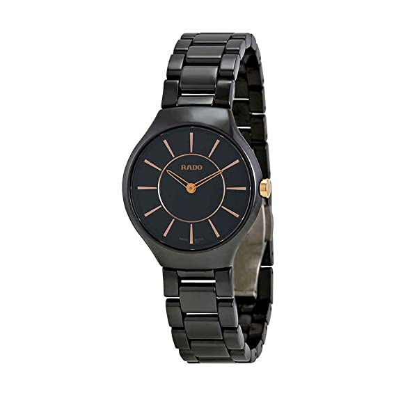 Rado R27742152 - Reloj para mujeres, correa de cerámica color negro: Amazon.es: Relojes