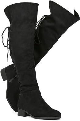 Womens Thigh High Flat Boots
