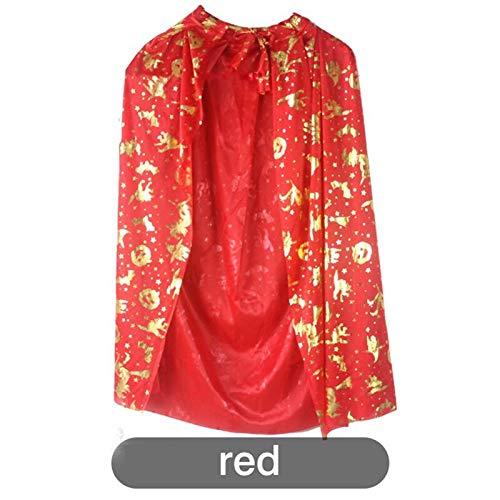 1PCS Halloween Gilt Cloak Cloak Child Sorcerer's Cloak Costume Ball Children's Clothing Party DIY Decoration Hot Sale -