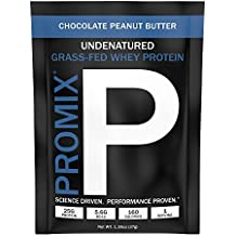 PROMIX #1 Undenatured Grass Fed Whey,†Unbleached,†Cold-processed, USA Farms 3rd Party Tested, No Preservative, Hormones, GMO's, Soy, or Gluten Look Better Naked Whey,Chocolate Peanut Butter