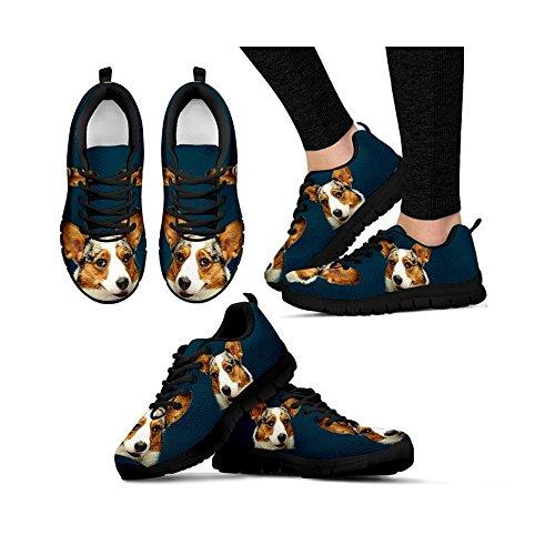 Cute Corgi Christina Designed Sneakers Jensen Black Women's Casual Print Customized By AAwqrx
