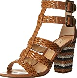 Schutz Women's Alycia Dress Sandal, Bamboo/Pearl/Black, 7.5 M US