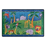 Vipsk ABC Letters Know The Map ultra soft interior smooth silky carpet non-slip carpet restaurant home bedroom decoration carpet children floor mat 31 x 20 inch & 60 x 39 inch