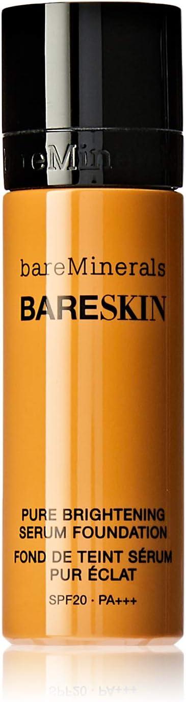 bareMinerals Pure Brightening Serum SPF 20 All Skin Types Bare Honey 15 Foundation for Women, 1 Ounce