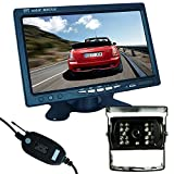 "Buyee Wireless Car Rear View Kit 7"" LCD Monitor+ Ir Reversing Camera 18led"