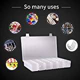 SYS Plastic Organizer Container Box 36 Compartments Jewelry Storage Box with Adjustable Dividers