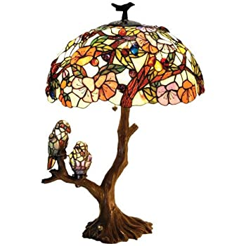 Tiffany Style Parrot Accent Lamp Table Lamps Amazon Com