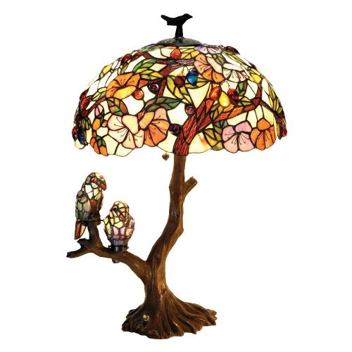 Chloe Lighting CH19B441DT 3 Light Birds Harmony Table (Tiffany Copper Bulb)