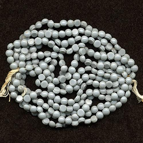 Huge Selection of Beading Accessories - Vintage Gray Nailhead Beads 5mm Opaque Glass Full 12 Strand Hank