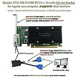 Epic IT Service - Quadro NVS 300 PCI-E x 16 (full size bracket, DMS-59 to dual VGA adapter)