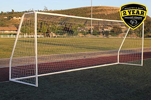 G3Elite Pro 18½ x 6½ Regulation Junior Youth Soccer Goal - Less Than Perfect Item, (2) Nets, Strongest Portable Steel Post Design w/Patented Corrosion Resistant Coating, 6.5 x 18.5, - Soccer Net 18'