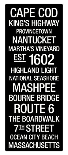 Cape Cod Canvas (Replay Photos 1218300-1230C Cape Cod Canvas Subway Art,Black/White,30