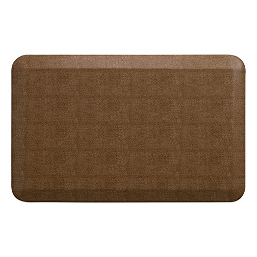 "NewLife by GelPro Anti-Fatigue Designer Comfort Kitchen Floor Mat, 20x32"", Pebble Caramel Stain Resistant Surface with 3/4"" Thick Ergo-foam Core for Health and (Caramel Floor)"