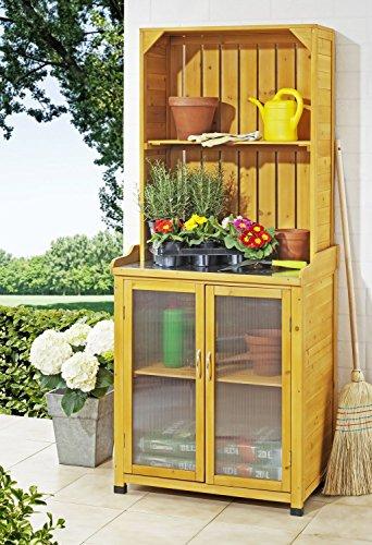 Gartenschrank mit Regalaufsatz