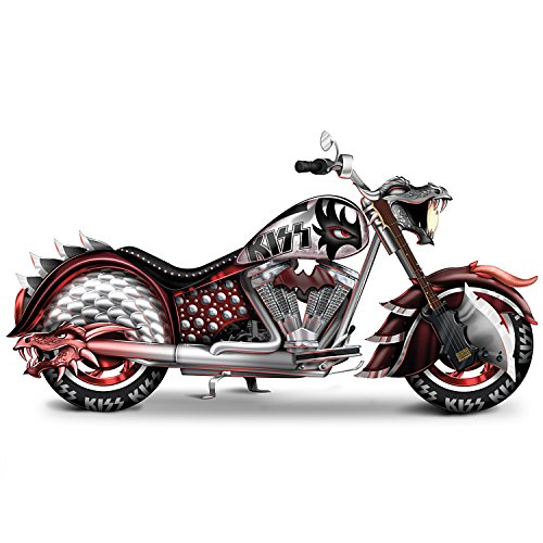 [KISS Rock And Roll All Nite Motorcycle Sculpture with Officially Licensed Logos by The Hamilton Collection] (Gene Simmons Costume For Sale)