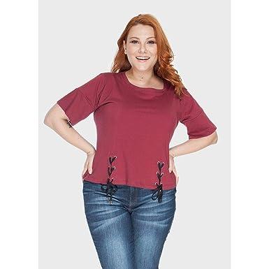7e9acf7239 Camiseta Astana Plus Size Vinho-52 54  Amazon.com.br  Amazon Moda