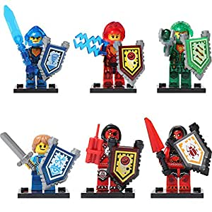 6 in 1 Ninjago Legoing Knight Series Shields Sword Various Weapon Props Building Blocks Compatible For LegoINGlys Bricks