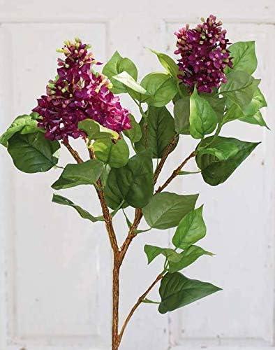 Artplants De Artificial Lilac Spray Deliah 2 Purple Flower Panicles Green Leaves 31 80cm Artificial Syringa Silk Flower Amazon Co Uk Kitchen Home