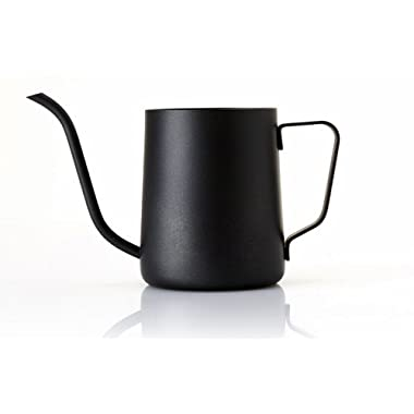 Lautechco 350ml Stainless Steel Gooseneck Pour Over Drip Coffee Maker Tea Coffee Cup Pot Tea Tools Kitchen Tools Matt