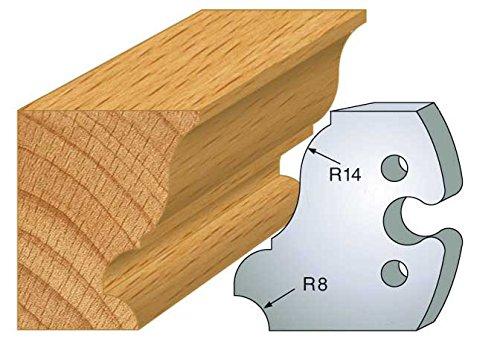 Jeu de 2 fers doucine ht 50 mm pour porte outils entraxe plot 24 mm 235