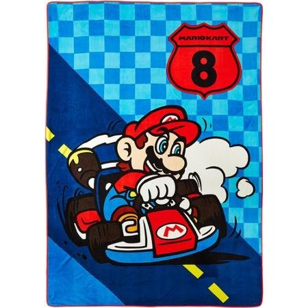 Price comparison product image Nintendo Mario Kart 8 We Own the Road Plush Blanket, New 2015