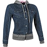 Speed and Strength Fast Times Womens Denim Jacket (Blue/Gray, X-Large