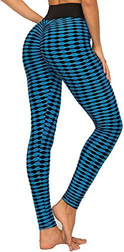 Mujer Leggins Pantalones Deportivos,Mallas Pantalones Deportivos Yoga de Alta Cintura Elásticos y Transpirables para Running Fitness con Elásticos ...