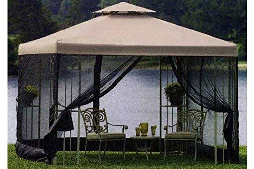 Cheap The Outdoor Patio Store Replacement Canopy for Garden Treasures 10 Ft. x 10 Ft. Gazebos High-Grade 300D Polyester Fits S-577-1 Grommet Holes