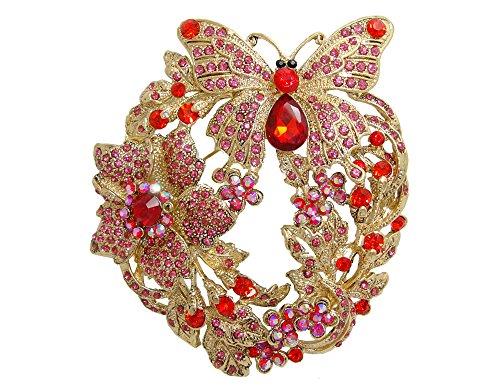 Austrian Crystal Butterfly Pin (TTjewelry 3.85