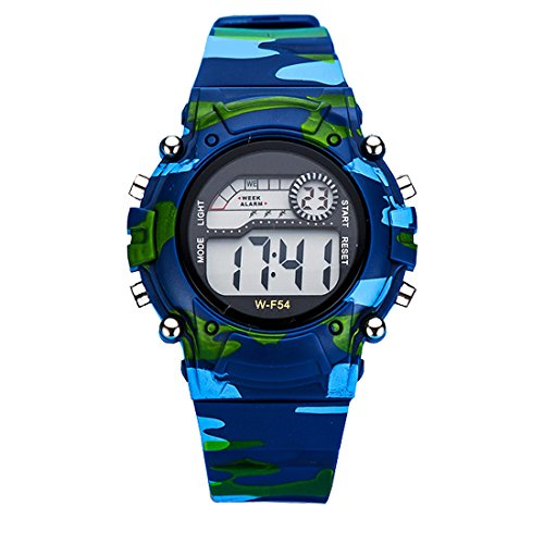 Azland Digital Sports Kids Watches with Gift box,Camouflage Color