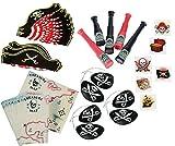 Nikki's Knick Knacks 96 Piece Pirate Party Favor Kit