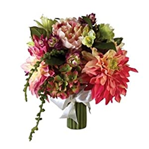Colorful Spring Garden Bouquets with Fabric Roses, Hydrangeas, Peonies, and Dahlias BUYERS' CHOICE OF COLOR 59