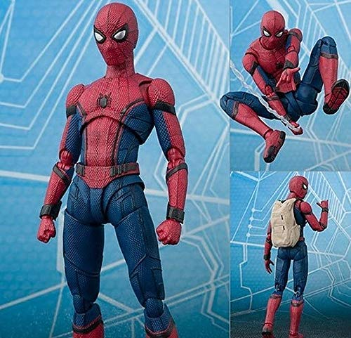 6 inch Spiderman Super hero Homecoming Action figure toys doll Christmas Collectibles Halloween Mini Small Amazing Model Toy Collectable Big Large Gift Collectible Gifts for Kids Baby