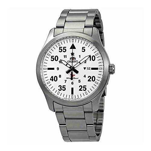 Flight Stainless Steel Watch - Orient Flight White Dial Stainless Steel Mens Watch FUNG2002W