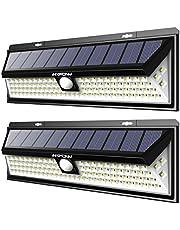 【Version Puissante】Mpow 2 Pack 102 LED Eclairage Solaire Extérieur Lampe Solaire Etanche 1100 Lumens 3 Modes d'éclairage Détecteur de Mouvement LED Solaire Pour Jardin, Escalier, Garage, Allée, Mur