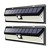 Mpow 102 LED Solar Lights Motion Sensor, Super Bright Wall Light, 3 Optional Lighting Modes, Large Solar Panel, 120¡ã Sensing Angle, Weatherproof, Great Outdoor Light for Garden, Driveway, Pathway(Pack of 2)