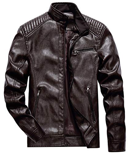 quilted biker jacket mens - 8