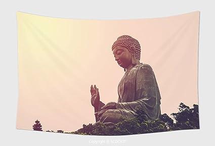 Amazon.com: Home Decor Tapestry Wall Hanging Tian Tan Buddha The ...