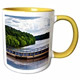 3dRose Danita Delimont - Joe Restuccia III - Waterways - The G.V. Sonny Montgomery Lock on the Tombigbee Waterway. - 11oz Two-Tone Yellow Mug (mug_191244_8)