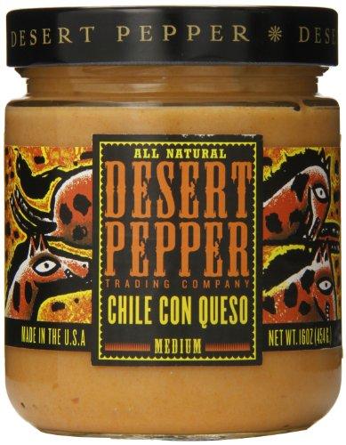 Desert Pepper Trading Company, Chili Con Queso Salsa, Medium, 16 oz