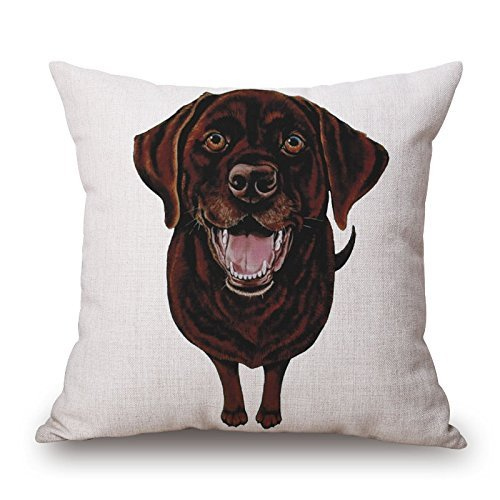 Verna Christopher Dog Pillowcover Inches/40 By 40 Cm Gift Or Decor For Gril Friend,boy Friend,coffee House,car,pub,him - Two Sides